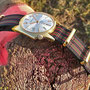 Band: Nato Gold »Real Bond Olive« | Uhr: Zodiac Olympos