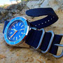 Band: Zulu Kingsize »Navy«| Uhr: Squale 1521 LE Blue