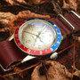 Band: Nato Leder »Mahagony« | Uhr: Steinhart Ocean One Vintage Dual Time Premium