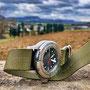 Band: Zulu HC 3 Ring olive | Uhr: Kazimon 1500