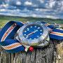 Band: Solitary Nato »Blue Heritage« | Uhr: Squale Tiger 300 Final Blu