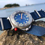 Band: Nato Matt »Ocean« | Uhr: Squale Tiger 300 Final Blue