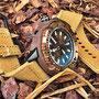 Band: Canvas Split PVD »Oro Chiaro« | Uhr: Seiko SRP236K1 Baby Tuna