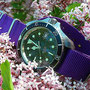Band: Nato G10 Purple | Uhr: Rof Monnin 844