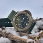 Band: Canvas Split »Verde Militare«  | Uhr: Panerai Submersible 025