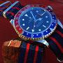 Band:Nato Matt »Panamericana« | Uhr: Rolex GMT Master 16700
