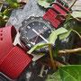Band: Zulu Kingsize PVD »Crimson« | Uhr: Hexa K500