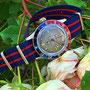 Band: Nato Matt »Panamericana« | Uhr: Steinhart Ocean One Vintage Dual Time Premium