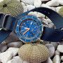 Band: Zulu Kingsize, »Ocean« | Uhr: Squale 1521 Blue LE