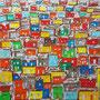 Favela, 60 x 60 x 2 cm; Collage; 2010