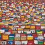 Favela 1, 100 x 120 x 4,5 cm; Collage; 2020