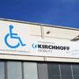 KIRCHHOFF Mobility - Firmenschild an Gebäude