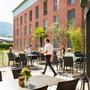 Swiss Heidi Hotel, Maienfeld, Terrasse
