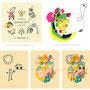 落描きタッチ☆ (◆左上絵:いまじねーしょん / Kids Songs ◆右上絵:背中にのって / tortoise / カメ ◆下絵:「線画と抽象画の組み合わせ。落書きタッチ(No.24)」)