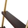 """лестница откатная библиотечная модели SL.6004.KLVario в отделке """"золото шлифованное"""" - гальваника"""