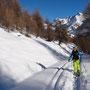 mündet allmählich in eine Skitouren-