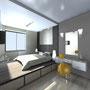 Спальная: вид от входа на подиум