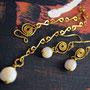 Messing mit Perlmutt-Perlen