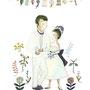 esquisse for wedding illustration