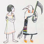"my original tale ""Kikimora who wants to be Death"""
