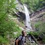 salendo dal fondovalle - le cascate