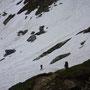gli ultimi metri sulla neve prima del rifugio