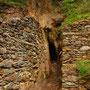 le vecchie miniere nel fondovalle
