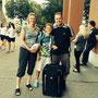 Domi mit seinen Eltern wieder vereint