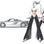 1990/2000 Madonna and Mercedes-Benz C112, pencil, watercolor, Art Direction: Le Han Nguyen, Editor: Daphna Ute Wildemann, ecd international