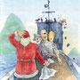 Santa and Pirates, 2008, Christmas Card