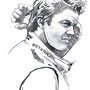 Nico Rosberg, pencil, watercolor, photoshop, Art Direction: Le Han Nguyen, Editor: Daphna Ute Wildemann, ecd international