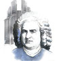 Bach, pencil, watercolor, Art Direction: Tobias Deeg