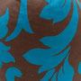 Barock Flower Blau/ Braun