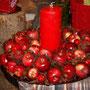 Apfelkranz mit Kerze