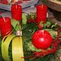 Adventskranz rot-grün