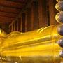 Der 45m lange ruhende vergoldete Buddha im Wat Po