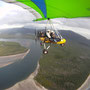 Up in the air mit dem Microlight, Roger sitzt vorne