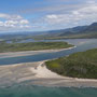 Sicht aus dem Microlight auf den Daintree River beim Cape Tribulation