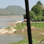 Mekong und Nam Khan fliessen in Luang Prabang zusammen