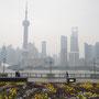 Skyline von Shanghai vom Bund aus