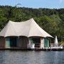 Unsere Unterkunft auf dem Fluss,