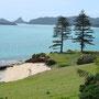 Blick auf Lovers Bay, wo wir geheiratet haben