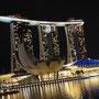 Das neue teure Hotel Marina Bay Sands mit Aussichtsterrasse