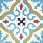 SOUTHERN TILES Zementfliese, Provencal_SPEZAIL_hellblau, 20x20 cm