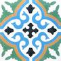 SOUTHERN TILES, Zementfliese, Provencal, grün-blau-gelb, 20x20 cm