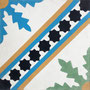 SOUTHERN TILES, Zementfliese /  Dekor: Ceouta blau, grün 20x20 cm