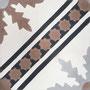 SOUTHERN TILES, Zementfliese /  Dekor: Ceouta grau, braun 20x20 cm