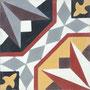 SOUTHERN TILES, Zementfliese /  Dekor: Stern 20x20 cm
