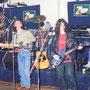 1992-08, con CRACK en Sueños (Minas). Alvaro Tellechea, Daniel Ríos, Rafa Rodríguez y Jorge Acosta.