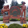 Kettensägeskulptur in Hope